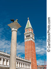 Campanile tower at Piazza San Marco, Venice, Italy