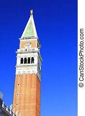 """The bell tower of San Marco, """"Campanile"""", in Venice, Italy"""