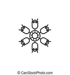 Campanula line icon concept. Campanula flat vector sign,...
