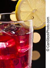 Campari cocktail in Disco setting - Red Campari cocktail ...