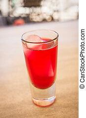 Campari Soda - Campari soda drink in a terrace pub.
