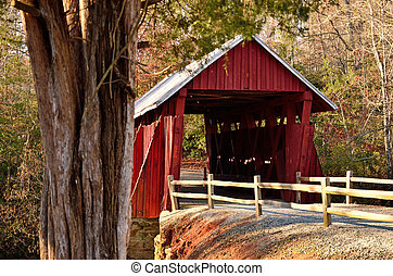 Campbell's Covered Bridge in SC - South Carolina's last...