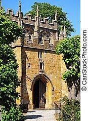campden., entrada, lasca, iglesia