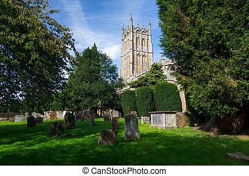 campden, lasca, cementerio, iglesia