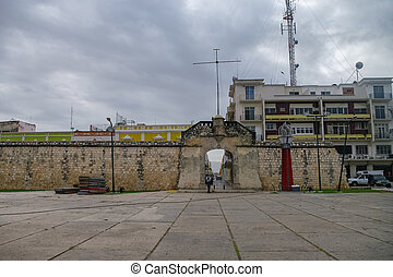 Historic Fortified Town of Campeche - UNESCO World Heritage Site. The Ocean Gate