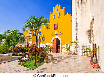 Campeche, Mexico - The Cathedral, Our Lady of the Immaculate, Yucatan colonial heritage.