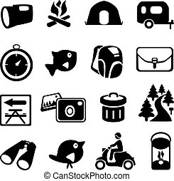 campeggio, icone
