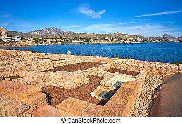 Campello iberian settlement in illeta Alicante