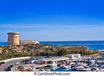 Campello Isleta or illeta Tower and Marina