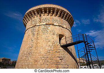 Campello Isleta or illeta Tower in Alicante
