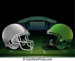 campeonato, futebol americano, ilustração