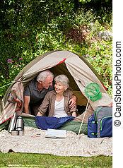 camper couples, jardin