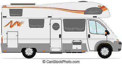 Camper - Modern camper van.