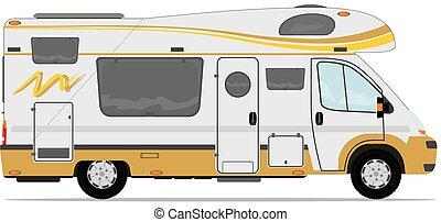 Modern camper van.