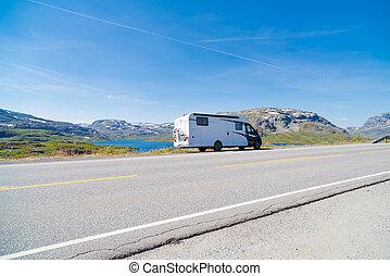 camper vacation in Norway