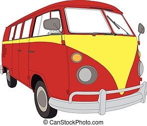 Camper Van 03 - Colourful Camper Van beetle