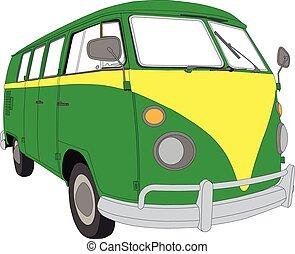 Camper Van 04 - Colourful Camper Van beetle