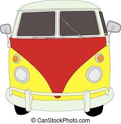 Camper Van front 01 - Camper Van front view
