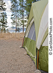 Camper's Tent in the Wilderness