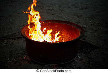 campfire, abierto
