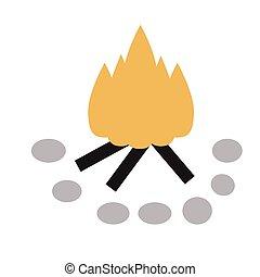 campfire flat illustration
