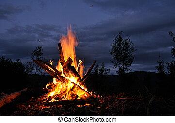 campfire, hoguera
