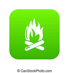 Campfire icon green