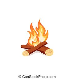 campfire isolated on white background