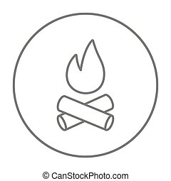Campfire line icon. - Campfire line icon for web, mobile and...