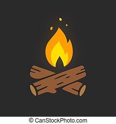 Campfire logo illustration