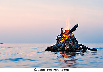 Campfire on Water