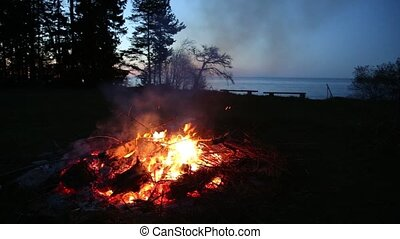 campfire pagan holiday latvia Midsummer night Ligo