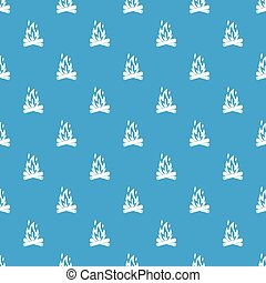 Campfire pattern seamless blue