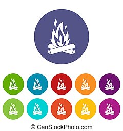 Campfire set icons