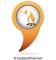 Campfire silhouette icon