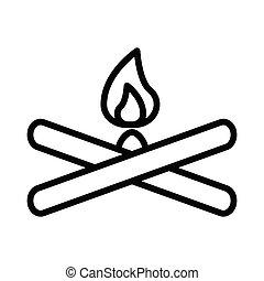 campfire thin line icon