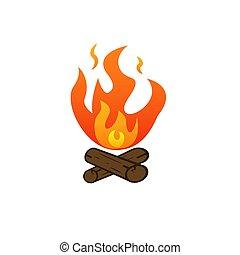 campfire vector icon