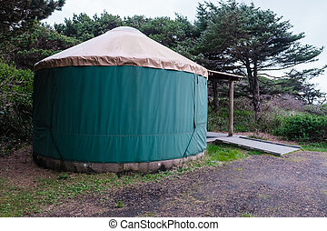 Campground Yurt on Oregon Coast