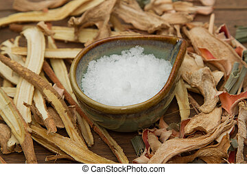Camphor; used in herbal medicine
