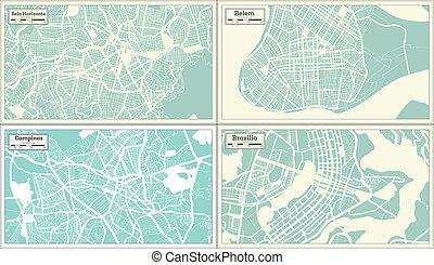 Campinas, Belem, Brasilia, Belo Horizonte Brazil City Maps ...
