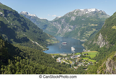 camping and cruise geiranger fjord norway