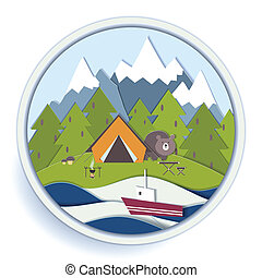 Camping and forest recreation badge