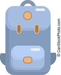 Camping backpack flat icon. Vector isolated illustration
