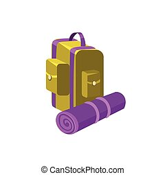 Camping Backpack. Vector Illustration