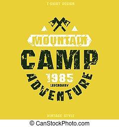 Camping badge