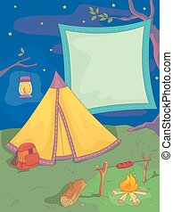 Camping Blank Banner