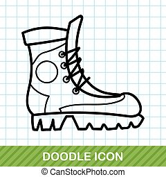 camping boot doodle