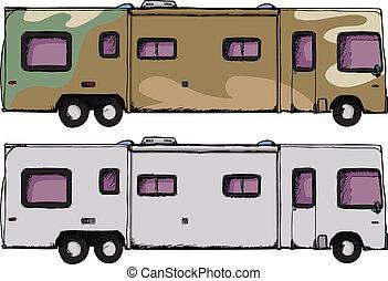 camping car, campeur, long
