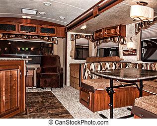 camping car, intérieur