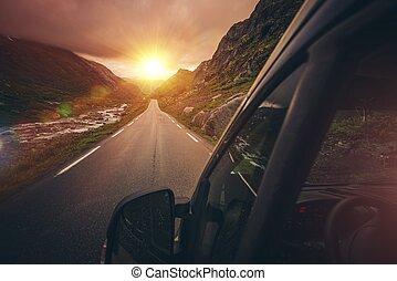 camping car, motorhome, voyager